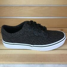 VANS Atwood Skate Shoes, Textile Black Pewter White Youth Size 3.5 | VN0003Z9DYO
