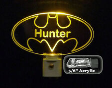 "Personalized Custom Batman LED Night Light, Superhero gift, 3/8"" Acrylic"