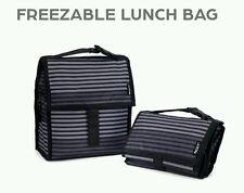PackIt Freezable Reusable Lunch Bag, Gray Stripe - Pkt-Pc-Str Brand New