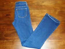 L.A. Premium Wax Jean Womens/Juniors Size 1 Skinny Dark Denim Jeans