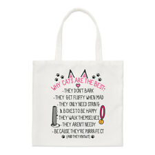 Why Cats Are The Best Small Tote Bag - Funny Crazy Cat Lady Kitten Shoulder