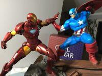 Civil War: Captain America Vs Iron Man 1:5 Scale Custom Statue Diorama Marvel