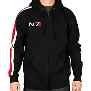 Men's Gaming N7 Mass Effect 3 Cosplay Fleece Hoodie