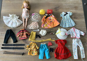 "Vintage Tiny Betsy McCall 8"" Doll & Fashion LOT VGC Ski Party Artist, Hats"