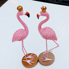 Set of 2pcs Romantic Flamingo with Crown for Wedding Table Decoration