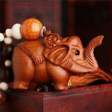 Wood carvings crafts Elephant car pendant decoration mascot boutique gift AZS005