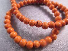 Cotton Candy Orange Magnesite Round 6mm Beads 74pcs