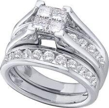 Anillos de joyería con diamantes Alianza de compromiso princesa