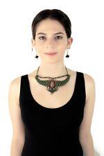 Boho Unisex Macrame Choker Crystal  handmade Necklace for Festivals
