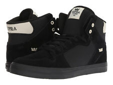 NEW NEW SUPRA VAIDER BLACK OFF WHITE BLACK SURF SNOW SKATEBOARD SPORTS SHOES 12