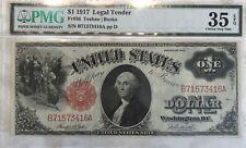 1917 $1 LEGAL TENDER RED SEAL FR#36 PMG CHOICE VERY FINE 35 EPQ