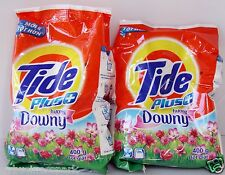 2 Tide Plus Downy Powder Laundry Detergent 14 oz. (400 g) each Total 16 Loads ♫❤