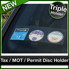 Car Van TAX / MOT / NCT / PARKING PERMIT / INSURANCE DISC HOLDER Black TRIPLE