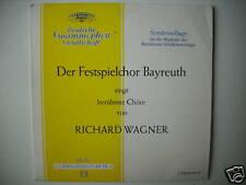 "FESTIVAL CHOIR BAYREUTH CHANTE RICHARD WAGNER TULIP 10"" LP (L1947)"
