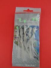 2/0 WHITE KOIKE HOKAI'S  WHITE FEATHER 5 HOOK RIGS 2 SETS SEA FISHING TACKLE