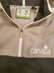 Official Canada 2010 Vancouver Winter Olympics Long Sleeve 1/4 ZIP Jacket S/P