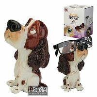 Optipaws Springer Spaniel Dog (Liver & White) Glasses Holder Ornament NEW