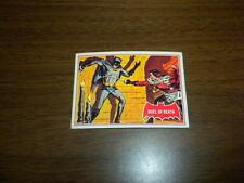 BATMAN card #41A Topps 1966 red bat/puzzle back