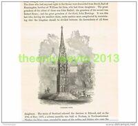 WALTHAM CROSS, HERTS, ENGLAND, Book Illustration (Print), c1870