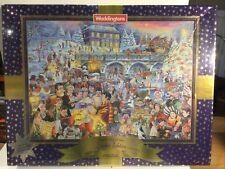 Waddingtons Christmas Jigsaw Puzzle Skating Christmas Eve 1000 Piece New sealed