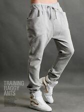 Mens Harem Pants Plain Sports Jogger Dance Sweatpants Tracksuit Jogging Trousers