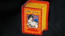 Vintage Cupid Message Book shaped valentine Card & Risqué Cherub c. 1920s