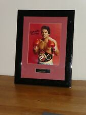 Roberto Duran Signed Photo C.O.A Frame Size 14x18 inches