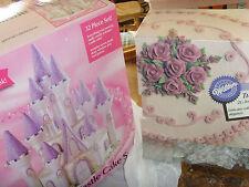Partial kit Wilton cake decorating Romantic Castle cake set lot and Tuk ruffle