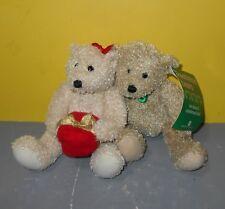 "6"" American Greetings Mistletoe Magnetic Cheeks Stuffed Plush Kissing Bears"