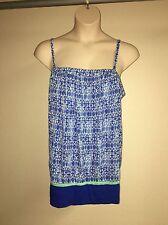 Lane Bryant Cami Blouse Blue Multi-Color Plus Size 22/24 Womens NWOT
