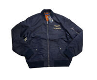 Polo Ralph Lauren MA-1 Military Flight Bomber Jacket Navy New W/Tags Men's L