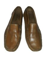 Clarks England Men's Size 12 Light Brown Slip-On Driving Leather Loafers