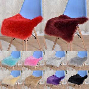 Furry Faux Fur Cushion Cover Long Wool Chair Mat Pad Warm Soft Home Decoration