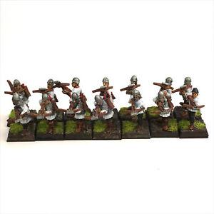 Warhammer Fantasy Bretonnia Crossbowmen Lot x14 - Oldhammer, Painted OOP 115 THG