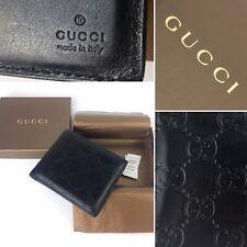 GUCCI wallet GUCCISSIMA Black lather originale Portafoglio Uomo Nero