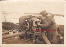 Photo Wehrmacht Gun from Moscow, Gunner in Winter Reversible Jacket, Reversible Parka