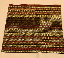 Mens Top Pocket Handkerchief. Red and Brown Multicolour. Cotton. New