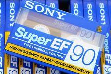 SONY SUPER EF 90 NORMAL POSITION TYPE I BLANK AUDIO CASSETTE TAPE - 1992