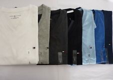NWT Tommy Hilfiger  V Neck Classic Fit Solid T-Shirt For Man S M L XL
