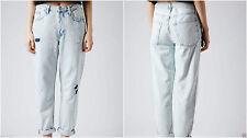 Topshop Cotton Boyfriend Women's Jeans Stonewashed