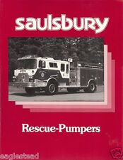 Fire Equipment Brochure - Saulsbury - Rescue-Pumper - Delmar (DB151)