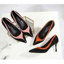 Formal Color Block Pointed Ladies Pumps - Brown (XYG062146)