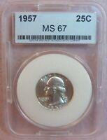 1957 Washington Quarter MS gem bu uncirculated Luster UNC