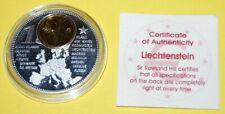 Liechtenstein 1 Coin(gilded)+Medal 40mm, 31g, Proof Like + Zertifikat
