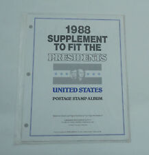 New CWS Stamp Album Pages 1988 Supplement Fit The Presidents Postage Stamp Album