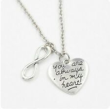 Always i my heart infinity necklace + gift bag