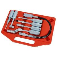 7 Piece Grease Gun / Lube Adaptor Set with Case - Fits manual Grease Guns