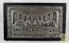 Russian Orthodox Wooden Icon Silver Plated Last Supper