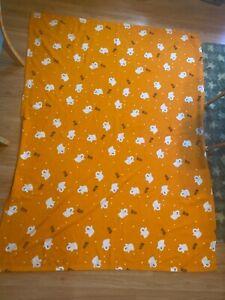 "Orange Halloween Ghost Plush Throw Blanket 51"" x 69"" Boo!"