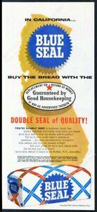 1959 Blue Seal bread loaf California state art vintage print ad